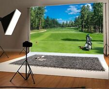 Golf Course Bag Woods Scene Photography Background 7x5FT Vinyl Studio Backdrops