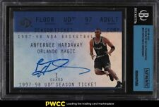 1997 UD3 Season Ticket Redemption Anfernee Hardaway AUTO #AH BGS Authentic