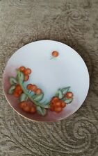 "O & E G ROYAL AUSTRIA HAND PAINTED Fruit Plate 7"" Signed M. Raab"