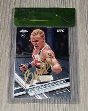 VALENTINA SHEVCHENKO SIGNED AUTO'D 2017 UFC TOPPS CHROME RC CARD #83 BAS COA 228