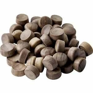 "Broyhill Brasilia walnut chair plugs - all walnut chairs can use these 1/2"""
