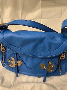"marc jacobs ""Pedal to the Medal"" Natasha flap medium bag Electric Blue Lemonade"