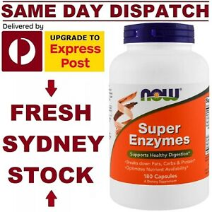 Super Enzymes NOW Foods 180 Caps ADVANCED FORMULA POWERFUL DIGESTIVE ENZYMES!