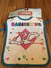 Babies R Us Vintage Baby Bib Toys R Us Company Hasbrp Tie Neck Playskool