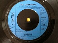 THE OSMONDS . LET ME IN . CLASSIC 1970's POP .  1973. .