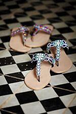 Anthropologie Kandalini Jeweled Thong Sandals-37