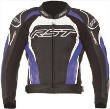 Giacche da uomo blu in pelle per motociclista