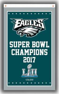 Philadelphia Eagles Football Champion Memorable Flag 90x150cm 3x5ft Super banner