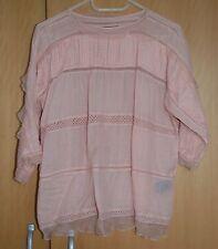 New Isabel Marant rose Olympe Haut Dentelle Chemisier (dress) taille 34 RPP £ 450