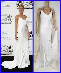 F/W 2014 Look # 51 NEW VERSACE WHITE GOWN DRESS as seen on Heidi 38 - 2