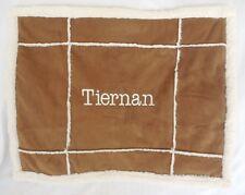 "Pottery Barn Kids Sherpa Patch Decorative Pillow Sham ""Tiernan"" Nwot"