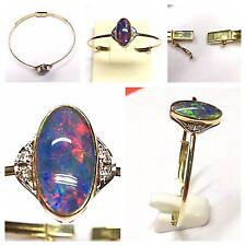 Armreif 585er Gold Opal Brillanten Goldschmuck Brillantenarmreif Opalschmuck
