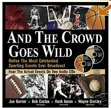 AND THE CROWD GOES WILD! Book and CD set of sport event