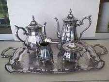 MINT 5 piece ROGERS SILVERPLATED TEA/COFFEE SERVICE *NO RESERVE