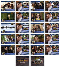 Twilight Breaking Dawn Part 2 SERIES 2 Trading Card Set ~ Rare ~ NEW