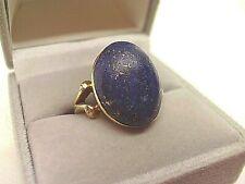 9ct Gold Lapis Lazuli Ring.