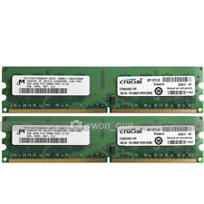 Crucial 4GB 2x2GB PC2-5300 DDR2 667Mhz CL5 DIMM Memory Ram For Intel Motherboard