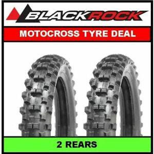 BLACKROCK Motocross Dirt Bike Tyre Deal 2 x 100/90x19 Soft