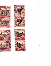 4 used pairs wonderful animals of Africa Burundi  imperforate pairs