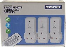 Status 13A Remote Control Sockets Wireless Switch Home Mains Power Outlet 3 Pack