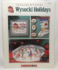 Charles Wysocki Holidays Cross Stitch Pattern Stocking Tree Skirt Christmas 173