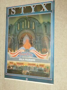 """VINTAGE 1980S AM RECORDS STYX PARADISE THEATER POSTER 35 X 24"""""""