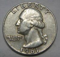 1961 Washington Silver Quarter Grading in the FINE Range  DUTCH AUCTION