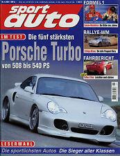 sport auto 1/01 2001 Cupra 4 Lotus Elise Abt Audi TT-R Toyota Supra Peugeot 406