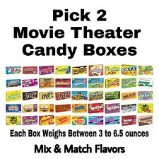 Pick 2 Movie Theater Candy Boxes Mix & Match Flavors
