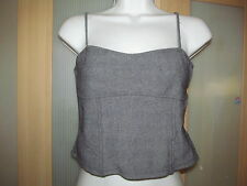 Sexy Funky Speckled GRAY spaghetti strap midriff tailored HOT KISS Juniors M