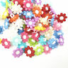 Resin Flowers Mixed Colors Buttons Fit decoration Sewing 15mm