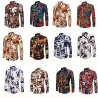 Stylish Homme T-Shirt Chemise de soirée Club Chemises Tops Manches longues M-5XL