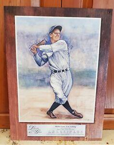 Lou Gehrig Legends of the Game Baseball Retro Vintage Metal Tin Sign