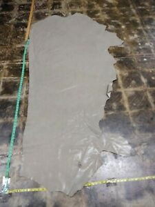 "Cowhide Quality leather skin hide ITALIAN GREY 60""x60"" in 2oz 1mm"