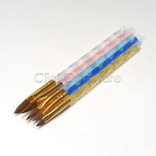 5 Pcs Acrylic Nail Art Uv Gel Carving Pen Brush Liquid Powder Diy No12.10.8.6.4