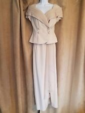Alex Evenings Gorgeous Elegant Champagne Two-piece Skirt and Top Size 8