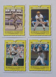 2021 Topps Heritage Roberto Clemente The Great One Baseball Cards Lot of 4.