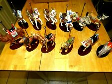 Treasury Of Carousel Art Franklin Mint 12 Figurines With Wood Base