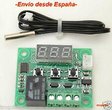 Termostato programable salida relé, -50 - 110ºC 12v, sonda NTC 10K inpermeable.