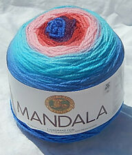 "Lion Brand Mandala Acrylic Yarn in ""Phoenix"" NEW, Smoke Free Home"