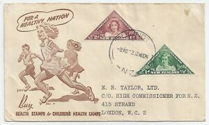 New Zealand health stamps - official FDC 1943 > London