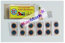 Bicycle puncture repair kit with 12  x  25mm  round  patches