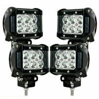 4X 18W LED Work Lights Pods Spot Fog Offroad Lamp for ATV JEEP UTE SUV 4 In L6O6