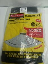 Lot of 6 Rubbermaid Commercial Large #24 Maximizer Rayon Finishing Mop Refill