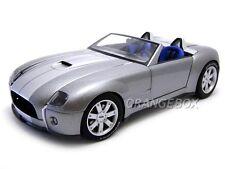 1/18 AUTOART - 2004 FORD SHELBY COBRA CONCEPT CAR TUNGSTÈNE ARGENT W / gris rare