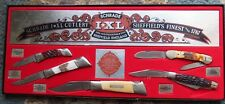 Schrade I*XL Wostenholm  Cutlery Sheffield England knife set (lot#11857)