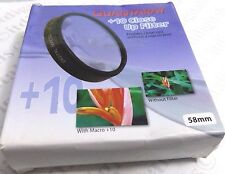 58mm Macro +10 Close-Up Lens Filter No.10 For DSLR SLR Film Digital Camera 58 mm