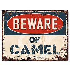 PP1493 Beware of CAMEL Plate Rustic Chic Sign Home Room Store Decor Gift