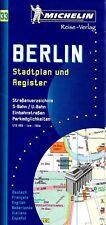 Michelin Map of Berlin, Germany, International Edition Map #33