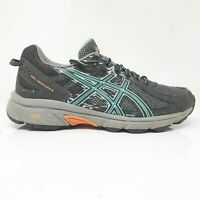 Asics Womens Gel Venture 6 T7G6Q Black Teal Running Shoes Lace Up Low Top Size 7